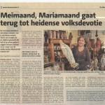 krantenartikel meimaand Mariamaand